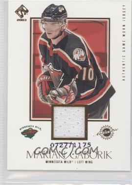 2002-03 Pacific Private Stock Reserve [???] #126 - Marian Gaborik /1175