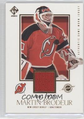 2002-03 Pacific Private Stock Reserve [???] #129 - Martin Brodeur /975
