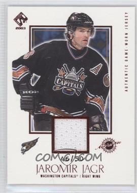 2002-03 Pacific Private Stock Reserve [???] #149 - Jaromir Jagr /50