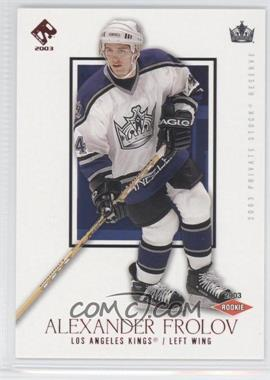 2002-03 Pacific Private Stock Reserve [???] #164 - Alex Frolov /50