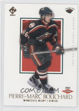 2002-03 Pacific Private Stock Reserve [???] #165 - Pierre-Marc Bouchard /99