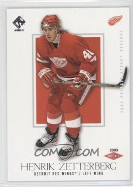2002-03 Pacific Private Stock Reserve Retail #160 - Henrik Zetterberg /1550