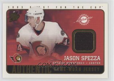 2002-03 Pacific Quest for the Cup - Authentic Game-Worn Jerseys #14 - Jason Spezza