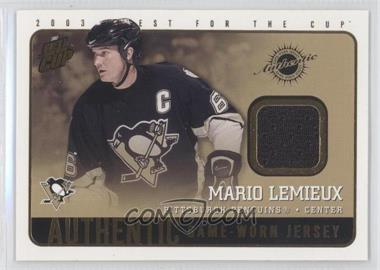 2002-03 Pacific Quest for the Cup - Authentic Game-Worn Jerseys #17 - Mario Lemieux