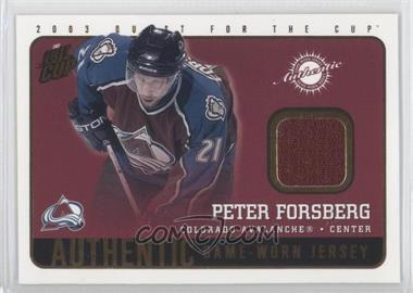 2002-03 Pacific Quest for the Cup [???] #5 - Peter Forsberg