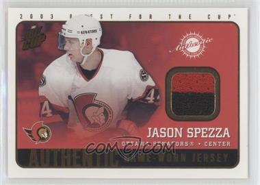 2002-03 Pacific Quest for the Cup Authentic Game-Worn Jerseys #14 - Jason Spezza