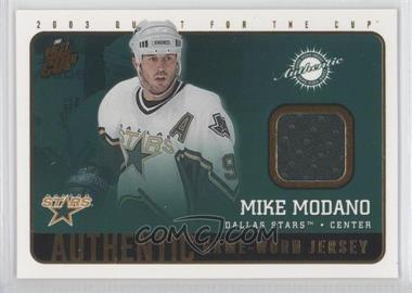 2002-03 Pacific Quest for the Cup Authentic Game-Worn Jerseys #7 - Mike Modano