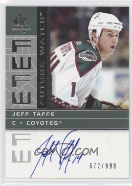 2002-03 SP Authentic - [Base] #192 - Jeff Taffe /999
