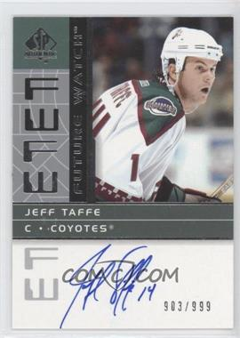 2002-03 SP Authentic #192 - Jeff Taffe /999