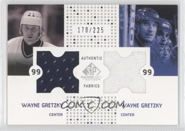 2002-03 SP Game Used Authentic Fabrics Combos #CF-WG - Wayne Gretzky /225