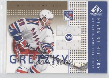 2002-03 SP Game Used Piece of History Gold #PH-GY - Wayne Gretzky /99