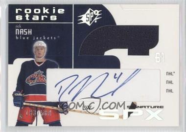 2002-03 SPx - [Base] #149 - Rick Nash /500