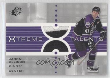 2002-03 SPx - Xtreme Talents #X-JA - Jason Allison /99