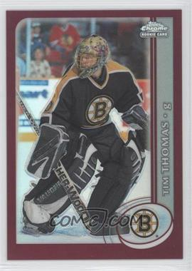 2002-03 Topps Chrome Refractor #162 - Tim Thomas
