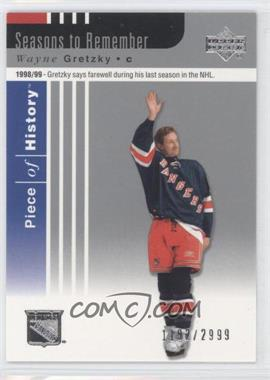 2002-03 Upper Deck Piece Of History - [Base] #92 - Wayne Gretzky /2999