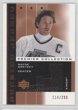 2002-03 Upper Deck Premier Collection Premier Jerseys Bronze #PP-WG - Wayne Gretzky /299