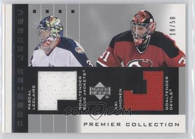 2002-03 Upper Deck Premier Collection Premier Jerseys Silver #P-A - Ari Ahonen, Pascal Leclaire /99