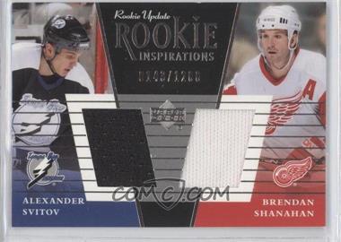 2002-03 Upper Deck Rookie Update #149 - Alexander Svitov, Brendan Shanahan /1200