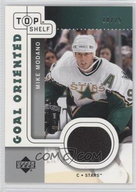 2002-03 Upper Deck Top Shelf - Goal Oriented Jerseys #GO-MM - Mike Modano /75