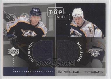 2002-03 Upper Deck Top Shelf [???] #N/A - Scott Hartnell, David Legwand /99