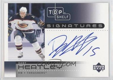 2002-03 Upper Deck Top Shelf Signatures #DH - Dany Heatley
