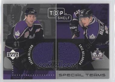 2002-03 Upper Deck Top Shelf Special Teams Dual Jerseys #ST-AB - Jason Allison, Eric Belanger /99