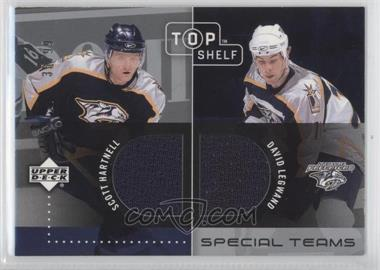 2002-03 Upper Deck Top Shelf Special Teams Dual Jerseys #ST-HL - David Legwand, Scott Hartnell /99