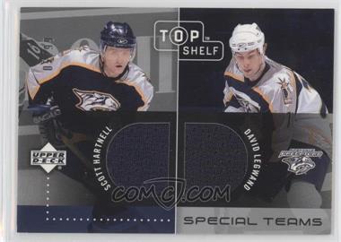 2002-03 Upper Deck Top Shelf Special Teams Dual Jerseys #ST-HL - David Legwand, Scott Hartnell /99
