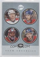 Montreal Canadiens Team Checklist