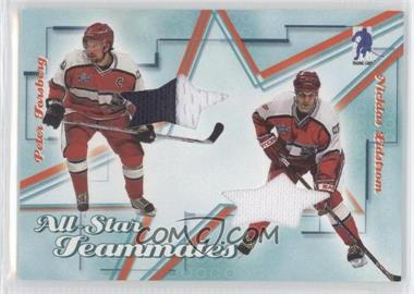2003-04 In the Game Be A Player Memorabilia All-Star Teammates Jerseys #AST-9 - Peter Forsberg, Nicklas Lidstrom /30