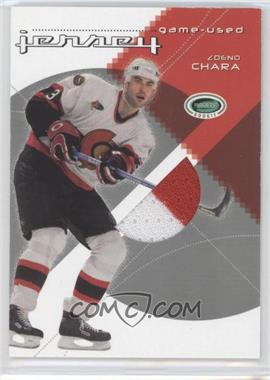 2003-04 In the Game Parkhurst Rookie Game-Used Jersey #GUJ-36 - Zdeno Chara /70