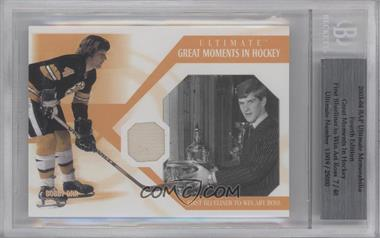 2003-04 In the Game Ultimate Memorabilia Fourth Edition [???] #N/A - Bobby Orr [BGS AUTHENTIC]