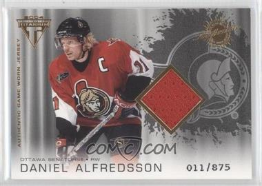 2003-04 Pacific Private Stock Titanium #172 - Daniel Alfredsson /875