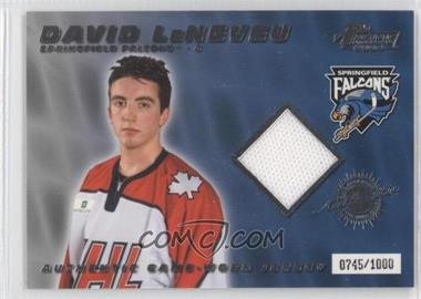 2003-04 Pacific Prospects AHL Edition - Authentic Game-Worn Jerseys #5 - David LeNeveu /1000