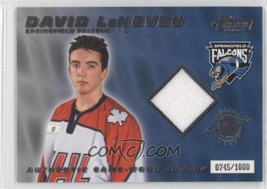 2003-04 Pacific Prospects AHL Edition [???] #5 - David Legwand /1000