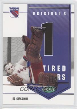2003-04 Parkhurst Original Six New York Rangers [???] #NY-2 - Ed Giacomin