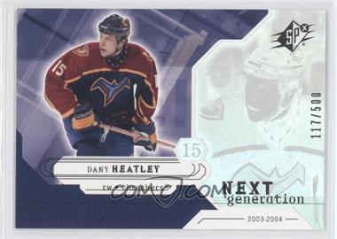2003-04 SPx - [Base] #156 - Dany Heatley /500