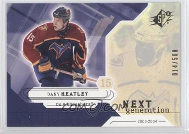 2003-04 SPx #156 - Dany Heatley /500
