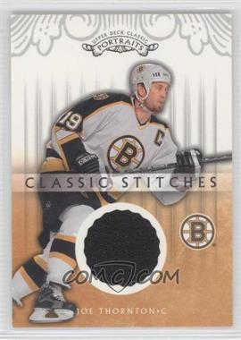 2003-04 Upper Deck Classic Portraits Classic Stiches #CS-JT - Joe Thornton