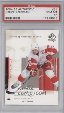 2004-05 SP Authentic - [Base] #34 - Steve Yzerman [PSA 10]