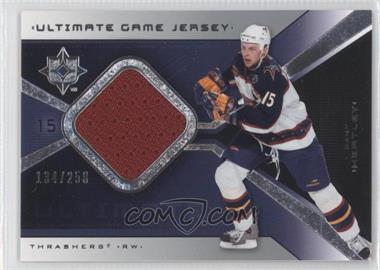 2004-05 Ultimate Collection Ultimate Game Jersey #UGJ-DH - Dany Heatley /250