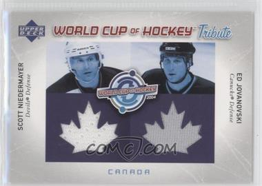 2004-05 Upper Deck World Cup of Hockey Tribute #WC-SN/EJ - Ed Jovanovski, Scott Niedermayer