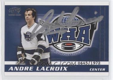 2004 Pacific WHA Autographs - [Base] - [Autographed] #NoN - Andre Lacroix /1972