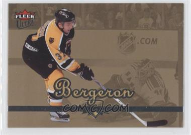2005-06 Fleer Ultra Gold Medallion #16 - Patrice Bergeron