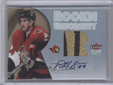 2005-06 Fleer Ultra Rookie Uniformity Patch Autographs [Autographed] #ARP-PE - Patrick Eaves /5