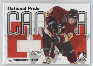 2005-06 In the Game Heroes and Prospects National Pride #NPR-05 - Jay Bouwmeester