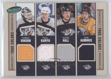 2005-06 Parkhurst True Colors #TC-NSH - Adam Hall, David Legwand, Dan Hamhuis, Scott Hartnell, Ryan Suter, Scottie Upshall, Paul Kariya, Tomas Vokoun
