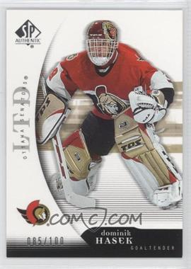2005-06 SP Authentic Limited #67 - Dominik Hasek /100
