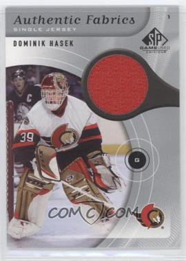 2005-06 SP Game Used Edition Authentic Fabrics #AF-HA - Dominik Hasek