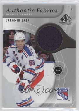 2005-06 SP Game Used Edition Authentic Fabrics #AF-JJ - Jaromir Jagr